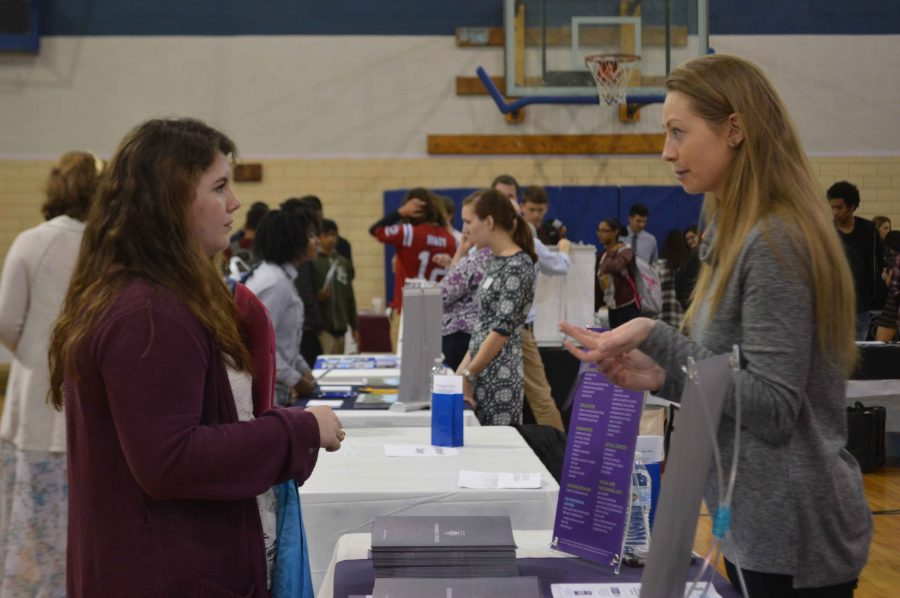 Students+Explore+Options+at+College+Fair