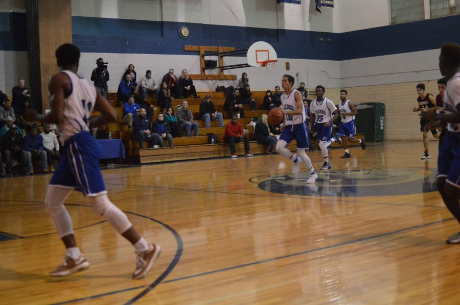 Bulldogs bring the ball up the court