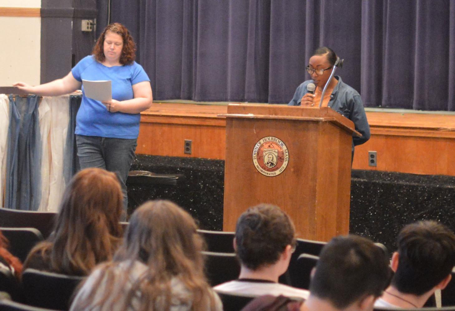 Sharlanda Colon gave an attention grabbing speech about her future promises as Secretary for the class of 2019