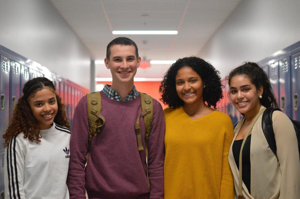 Sasha Oliveira, Peter Harris, Giana Andino and Genesis Martinez, four members of this year's homecoming court, are pictured here.