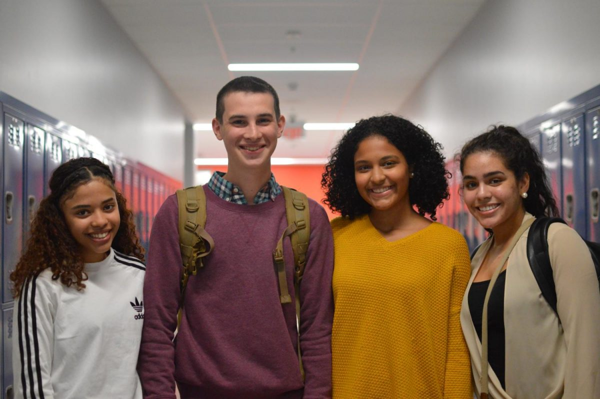 Sasha Oliveira, Peter Harris, and Genesis Martinez, four members of this year's homecoming court, are pictured here.