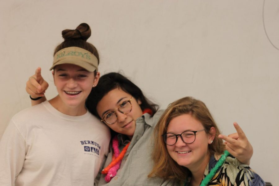 Lucy Ambroult, Emily Burke, and Skylar Gagnon