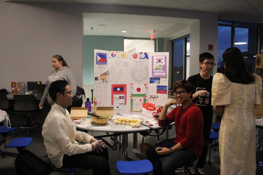 Students at the East Asia presentation