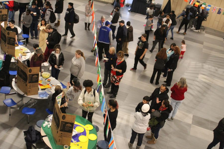 Participants wander through the culture fair