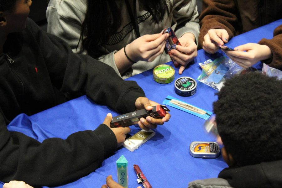Youth examine other tobacco products to understand what is out there.