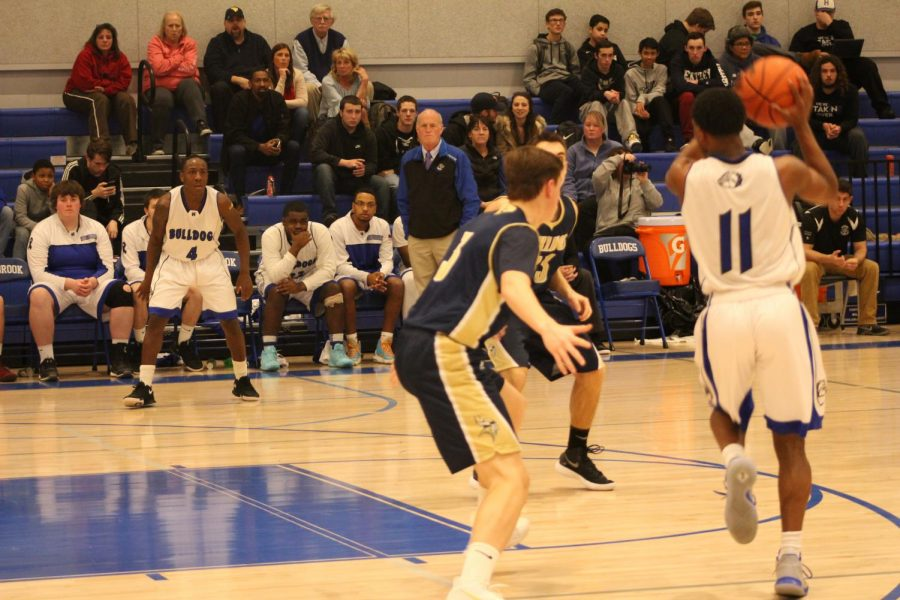 Jeremiah gets ready for a pass from Kyree LaPlanche on the way to scoring his 1,000th point.