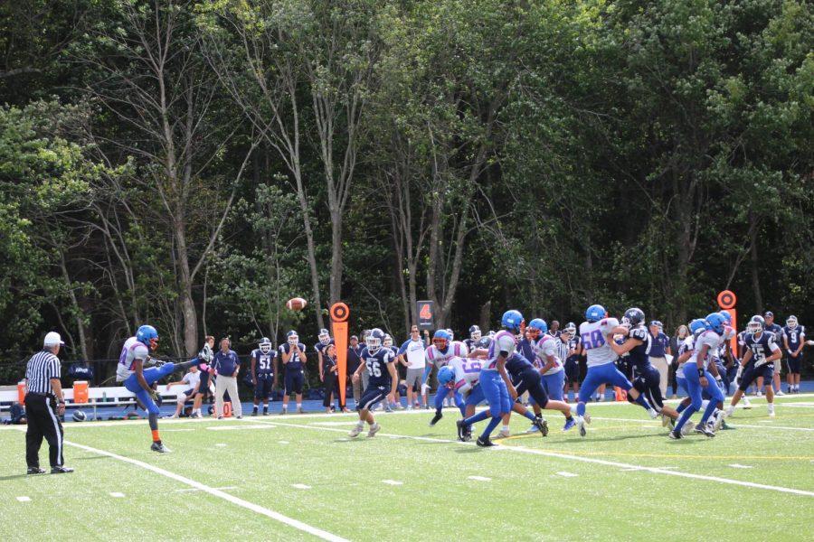 Holbrook-Avon punter sends the ball away