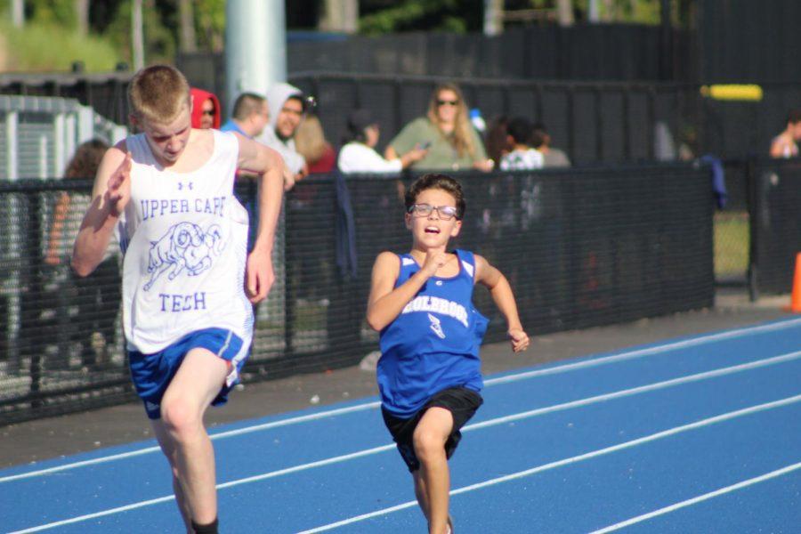 Javanni Logan powers through running against his competitor
