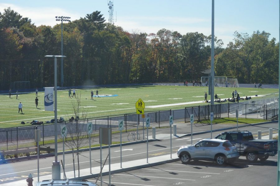 The new track and field is used for many sports and is a big benefit to our school.
