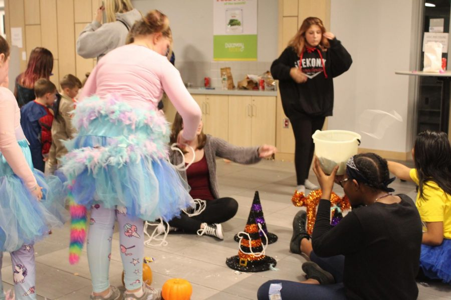 Halloween themed ring toss was runned by Niveah Sun, and Dorianna Pierre.
