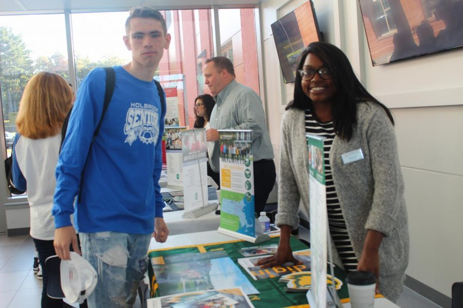 John Kenny and Fitchburg State admission counselor