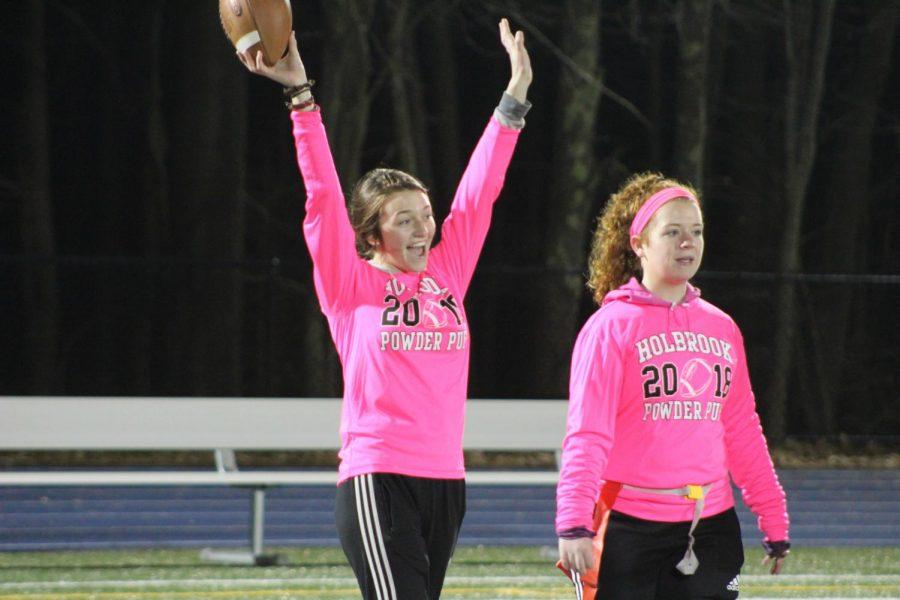 Lucy Ambroult celebrates a touchdown