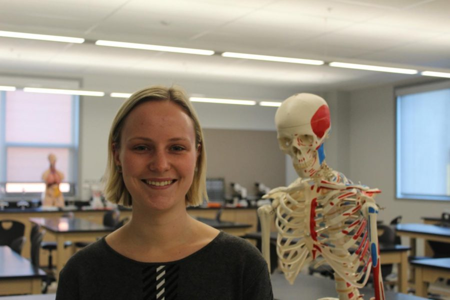 The new 10th grade biology student teacher, Ms. Toye.