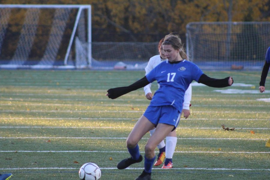Emily Cochran sends the ball upfield