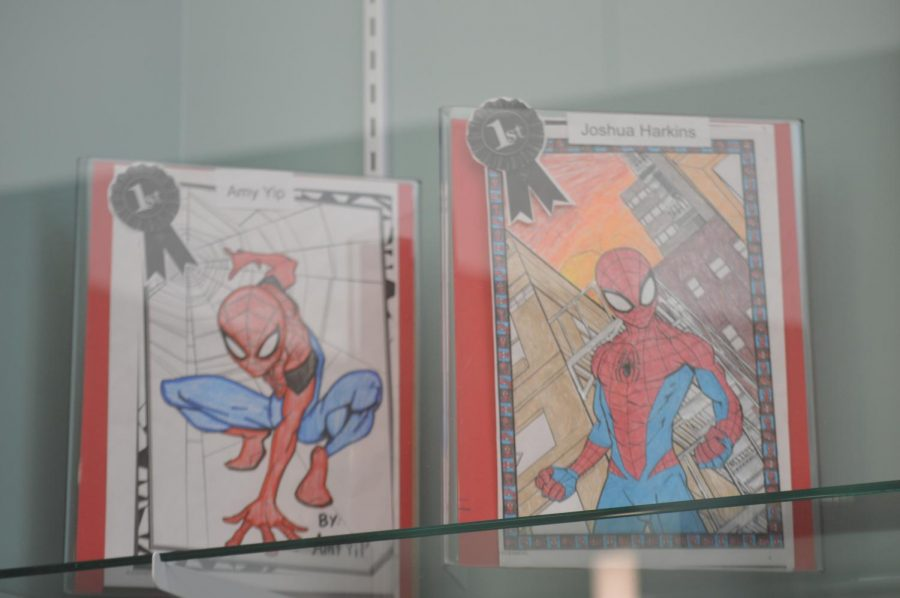 The winners of the Spider Man drawing contest is Amy Yip and Joshua Harkins.