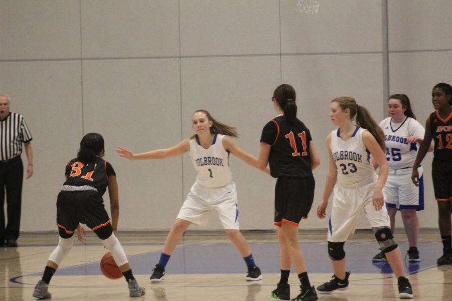 Taylor DiBona plays defense