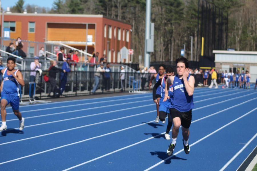 Will Haney Winning the 100 meter dash