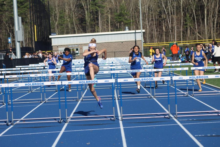 Ruby Ambroult defeated both Southeastern and Sacred HEart in the 100 meter hurdles