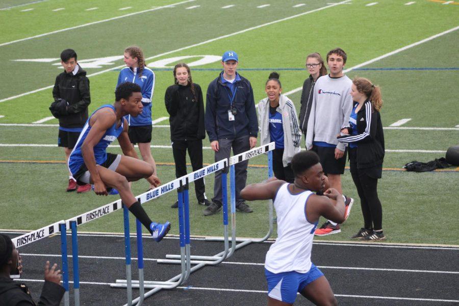 Alijaah Paul in the 110 meter hurdles