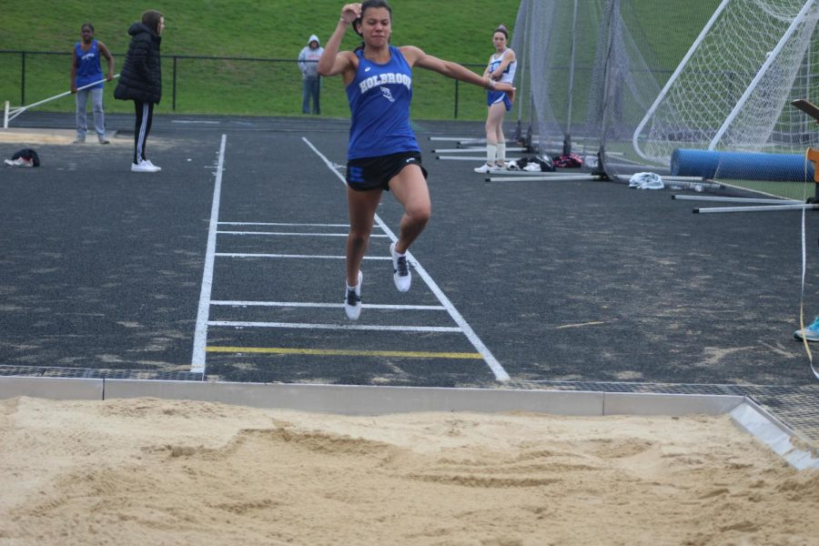 Hannah Altidor competes in long jump.