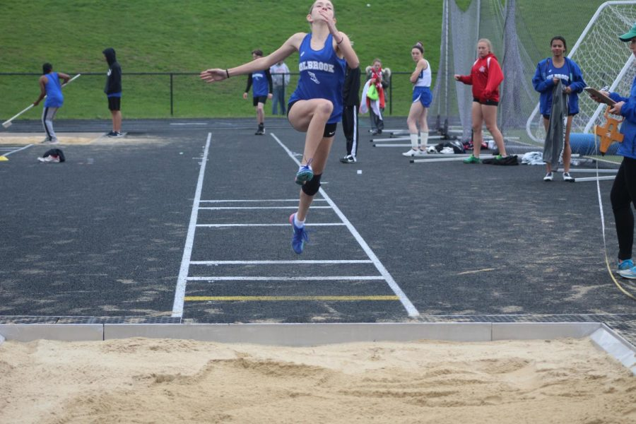 Ruby Ambroult in long jump