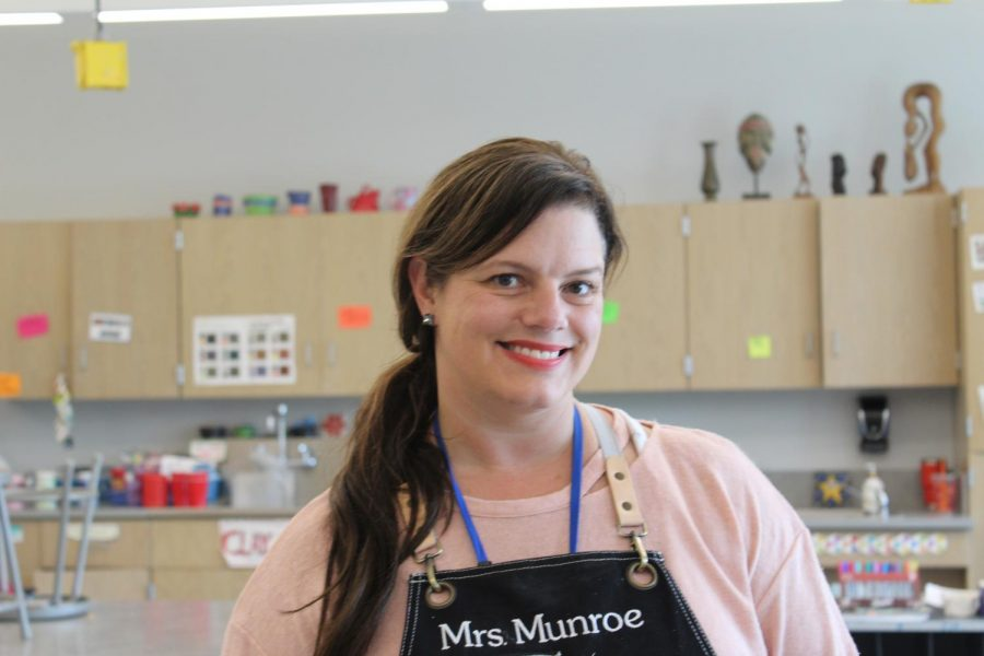 The new art teacher Mrs.Munroe
