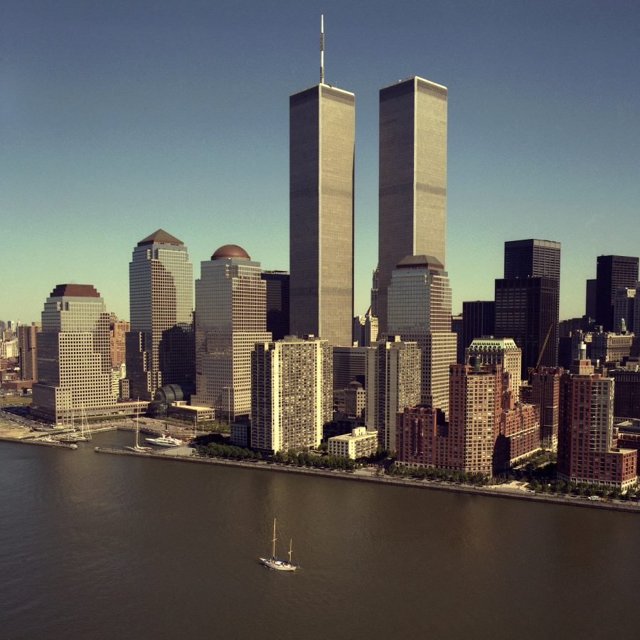 The Twin Towers before the September 11th Terrorist Attacks