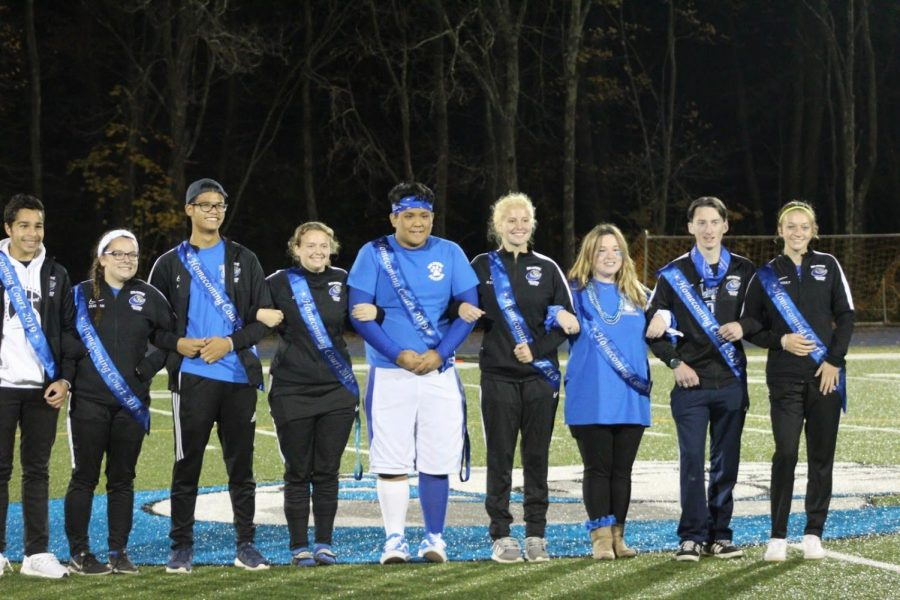 Homecoming court at halftime.