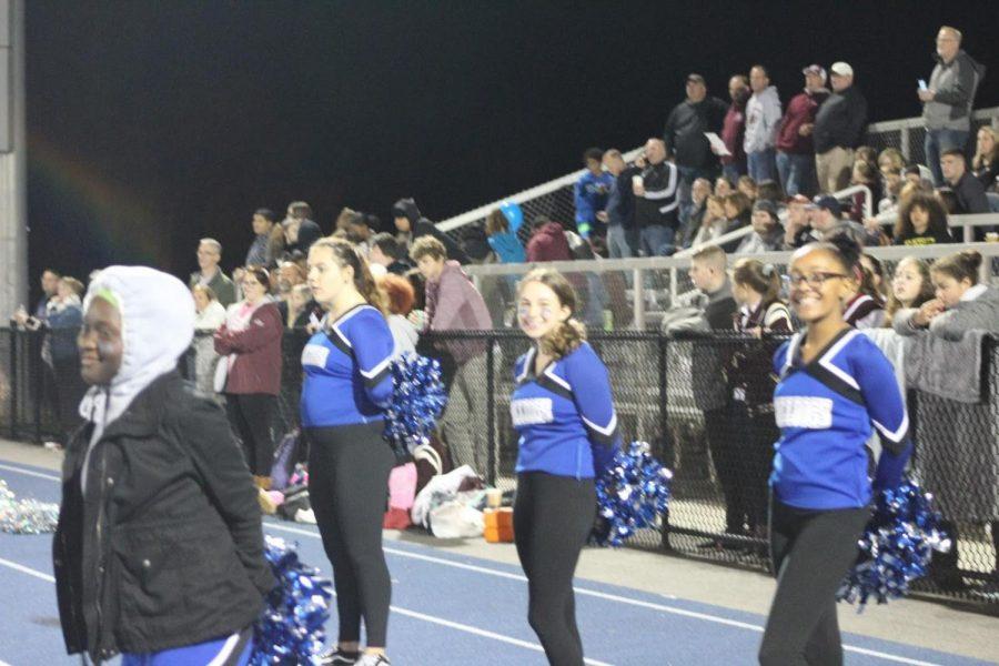 The cheerleaders.