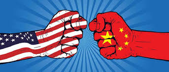 The Arms Race between the communist Soviet Union and capitalist United States.