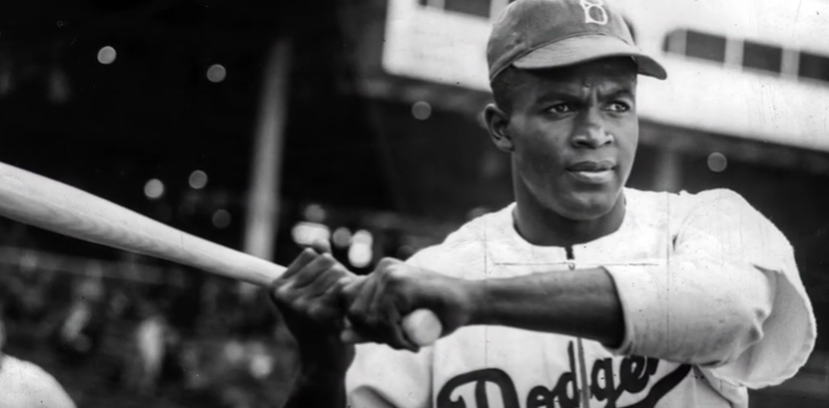 MLB+infielder+Jackie+Robinson%2C+the+first+African+American+to+play+in+the+MLB
