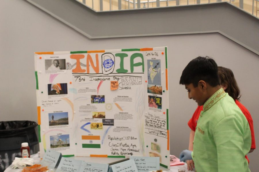Dhir Patel with his India presentation.