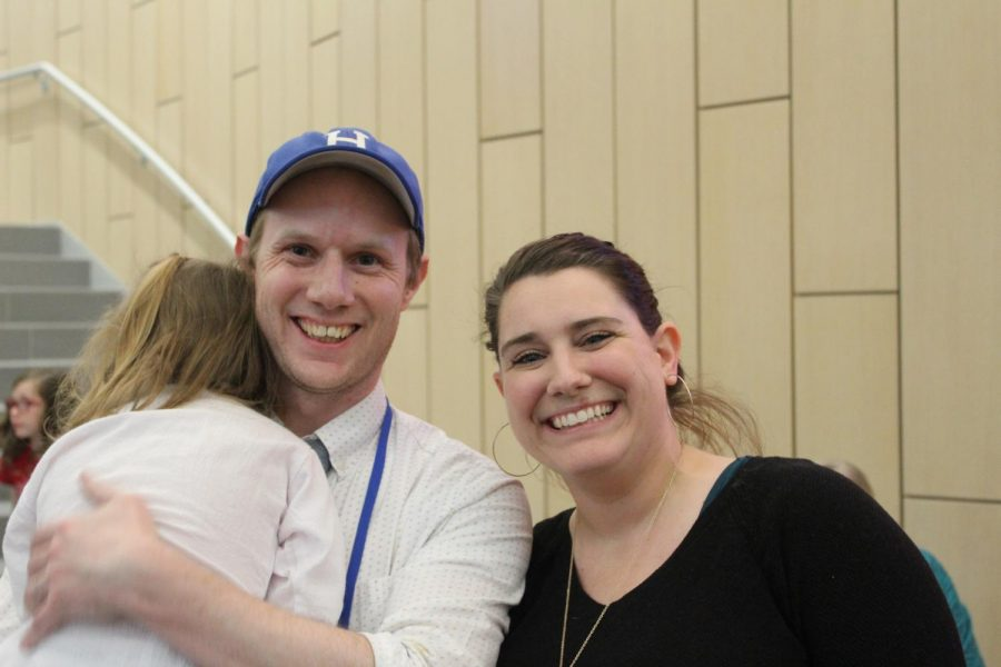 Mr. Flanagan and Mrs. McCann at the culture fair.