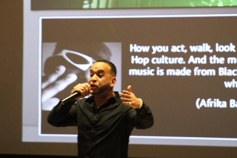 T.J. Griffin gives presentation.