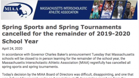 MIAA Officially Cancels Spring Sports