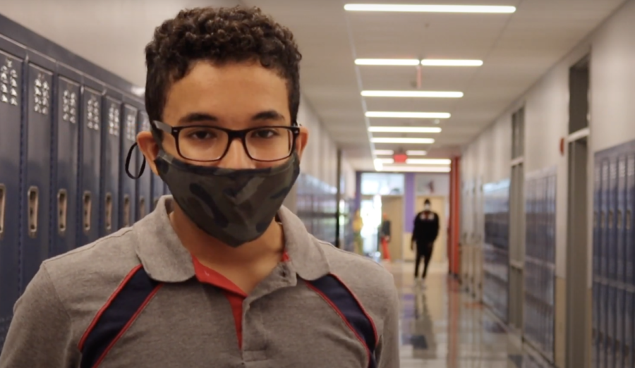 8th+grader+Nizar+Bouyacoub+shares+his+thoughts+on+the+Covid+restrictions+in+school.
