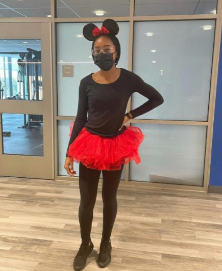 Jaida Gedeon dressed in her Minnie Mouse costume